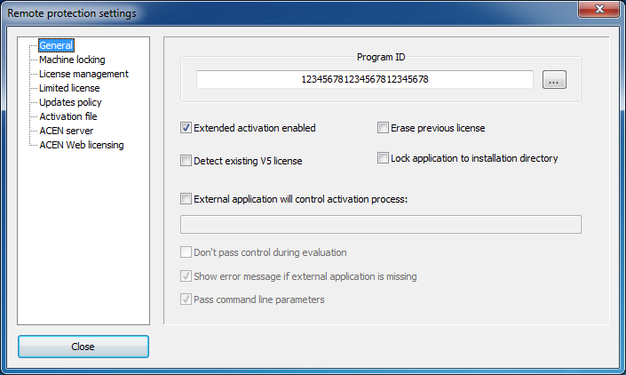 remote general settings
